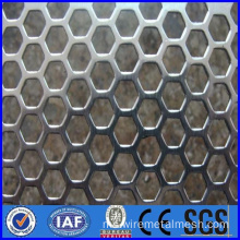Logam logam lembaran perforated aluminium